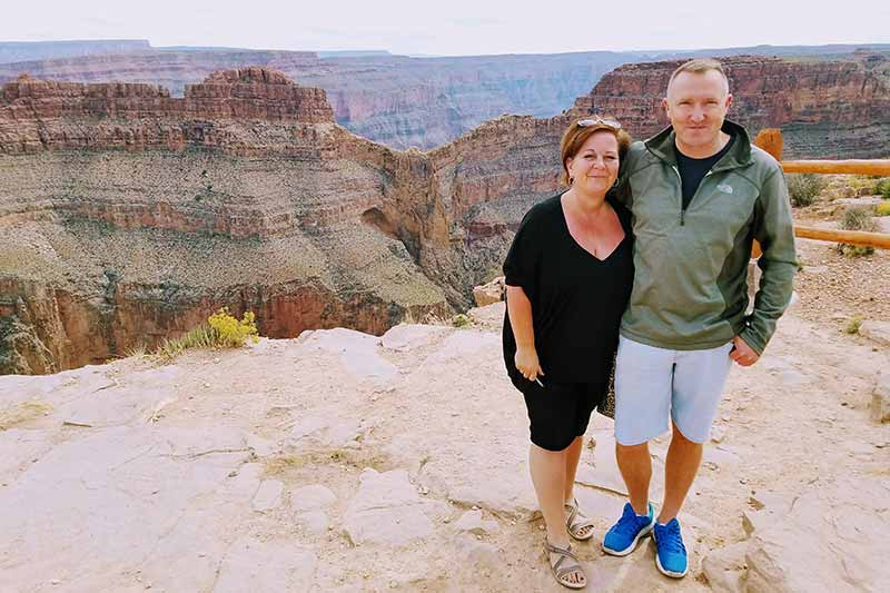 Private Tours Grand Canyon West Rim by DETOURS | Guests Eagle Point | JMP Photography