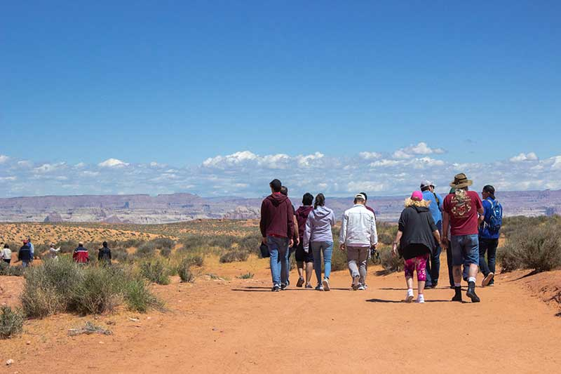 Lower Antelope Canyon Tours - Guests Walking Outside